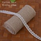 5Meters Polyester Cotton Lace Edge Trim Wedding Ribbon Applique DIY Sewing Craft