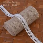 5Metres Polyester Cotton Lace Edge Trim Ribbon Wedding Applique DIY Sewing Craft