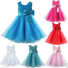 Pageant Flower Girl Dress Wedding Party Bridesmaid Gown Formal Princess Dress