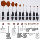 10Pcs Soft Oval Toothbrush Makeup Brush Set Power Foundation Brushes Tool Gold