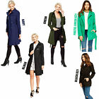 Ladies Women Fashion Trench Coat Mac Button Tie Up Double Belted Breasted Jacket