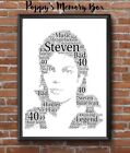 Michael Jackson Personalised Word Art Christmas Birthday Gift Print Fan Poster