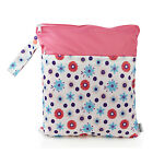 1PC Wet Dry Bag Baby Cloth Diaper Reusable Washable Wet Bag Two Zippers
