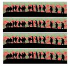 Remembrance Day Soldier Poppy Edible Icing Ribbon Cake Decoration Pre cut
