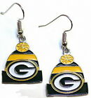 NFL LICENSED KNIT BEANIE HAT LOGO STYLE DANGLE EARRINGS -YOU PICK THE TEAM