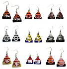 NFL LICENSED KNIT BEANIE HAT LOGO STYLE DANGLE EARRINGS -YOU PICK THE TEAM on eBay