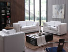 Euro Design Fabric Top Grain Aniline Leather Lounges Sofa Suite 1+2+3 Couches