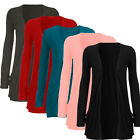 New Ladies PLUS SIZE Pocket Long Sleeve Cardigan Womens Big Size S-XXL Tops 2016