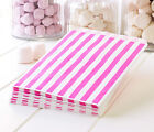 1000 Deep Pink Striped Paper Sweet Bags - Wedding Wholesale Bulk Candy Bags