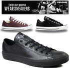 MENS LADIES CONVERSE ALL STARS LEATHER ALL STAR CHUCK TAYLORS TRAINERS SNEAKERS