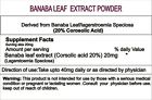 Banaba Leaf Extract / Lagerstroemia speciosa 20% Corosolic acid by HPCL