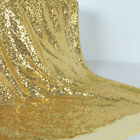 Glitter Gold Sequin Fabric Wedding Party Events Decoration Dance Cloth dress