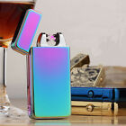 USB Rechargeable Electronic Windproof double Arc Cigarette Lighter For Gift