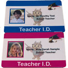 Child's Teacher ID Card | Play ID Card for Kids Fancy Dress Costume.