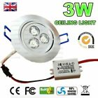 3W LED Ceiling Light Cabinet Fixture Lamp Downlight Day/Warm White AC85-265V UK