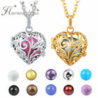 Crystal Heart Leafs Pendant Necklace Harmony Ball Necklace Women sweater Charms