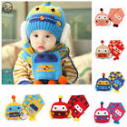 NEW Cute Baby Winter Hat Infant Toddler Kids Cap Beanie Baby Earflap Hat +Scarf
