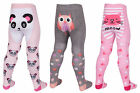 BABY GIRL TICK TOCK NOVELTY  CAT PANDA OWL PRINT TIGHTS STYLE - 45B112