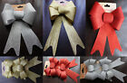 Christmas Bows Glitter Gift Bows Silver,Red and Gold bows for Tree Decorations