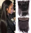 13x2 Peruvian Straight Ear To Ear 7AVirgin Human Hair  Full Lace Frontal Closure
