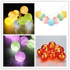 10 LED Battery Powered Crackled Ball Globe String Lights PARTY PATIO Fairy Light
