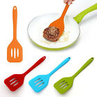 Silicone Fish Slice Slotted Turner Spatula Burger Cooking Kitchen Utensil Tool