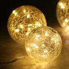45 LED Crackled Glass Balls Copper Wire Starry String Lights PARTY Xmas Light US