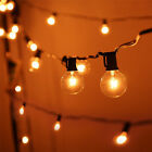 LED Globe String Lights G40 Bulb 25FT C7 Strand Warm White Outdoor Hanging Light