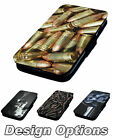 Bullets & Guns Printed Faux Leather Flip Phone Cover Case Inspired Weapon Range