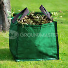 GroundMaster 90L Garden Waste Bags - Heavy Duty Large Refuse Sacks with Handles