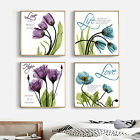 Flower Quotes Sayings For Life Stamped Cross Stitch Kit, 19.3 x 19.3inches