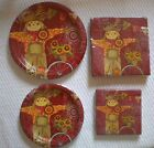 FALL SCARECROW  Theme Paper Plates ~ Luncheon ~ Cocktail Napkins U pick Quant.