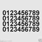 "0-9 Numbers - Set of 40 Vinyl Sticker Decals 3/4"" Tall - Select Color"