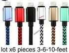 6X 8PIN Braided USB Charger Cable Apple  Lightning iPhone7 5/6/6s/+/7/iPad Mini