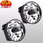 For 2002-2008 GMC Envoy Fog Lights Clear Lens Front Driving Bumper Lamps PAIR