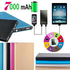 7000mAh External Battery USB Charger Power Bank for iPhone 5S 6S 7 LG Samsung S7