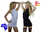 High neck mini dress black or white high choker necklinesequin club wear