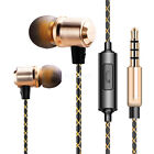 New 3.5mm in-ear Stereo Bass Headphones Noise Isolating Metal Earphones With Mic