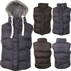 Womens Ladies Body warmer Gilet Sleeveless Vest Quilted Hooded Padded Jacket