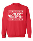 Funny Football Liverpool Jurgen Klopp Christmas Merry Kloppmas Xmas Party Jumper