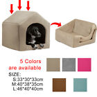 Pet Dog Bed House Igloo Pentagon Windproof Warm Cozy Puppy Dog Cat Bed Kennels