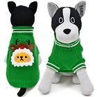 Pet Dog Sweater Clothes Warm Dog Cat Christmas Coat Sweaters Apparels Clothes