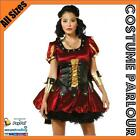 Womens Medieval Game Of Thrones Warrior Princess Fancy Dress Costume All Sizes