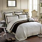 MAJESTY Duvet Cover Sheets Pillow Cases Bedding Set (Queen, King) - Pearl
