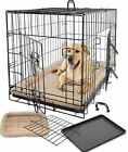Large Dog House Kennel Cage Crate Playpen / Fleece Bed Cushion Warm Soft Mat Pad