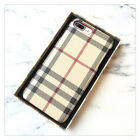 For iPhone 7 6S Plus Luxury Grid Classic Pattern Retro Plaid Hard Case Cover