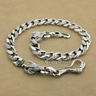 Huge Fish Hook 925 Sterling Silver Dragon Mens Biker Punk Wallet Chain 8F002WC2D
