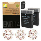 EN-EL14 Battery Charger for Nikon D3100/3200/3300/5100/5200/5300 P7000/7100/7800