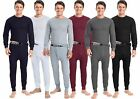Mens 2pc Thermal Set Long John Underwear Waffle Knit Top and Bottom S M L XL 2X