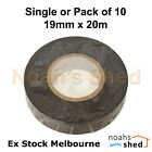 Home Electrical Insulation PVC Tape Black 19mm x 20M Single or Bulk Pack